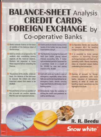 BALANCE-SHEET Analysis CREDIT CARDS FOREIGN EXCHANGE By Co-Operative Banks