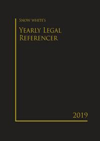 SNOW WHITE'S YEARLY LEGAL REFERENCER 2019( BIG)