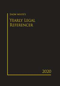 SNOW WHITE YEARLY LEGAL REFERENCER 2020( BIG)