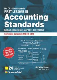 FIRST LESSONS IN Accounting Standards C A FINAL ( OLD SYLLABUS)