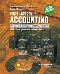 Buy FIRST LESSONS IN ACCOUNTING - IPCC Gr.- I( New Syllabus)