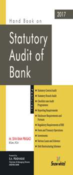 Buy HAND BOOK ON STATUTORY AUDIT OF BANK