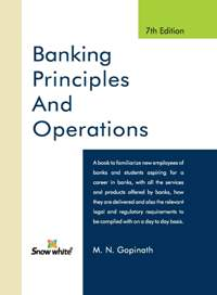 Buy BANKING PRINCIPLES AND OPERATIONS
