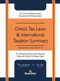 DIRECT TAX LAWS & INTERNATIONAL TAXATION SUMMARY