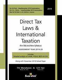 DIRECT TAX LAWS & INTERNATIONAL TAXATION
