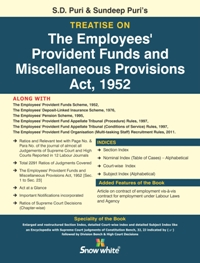 Buy Treatise On THE EMPLOYEES PROVIDENT FUNDS AND MISCELLANEOUS PROVISIONS ACT, 1952