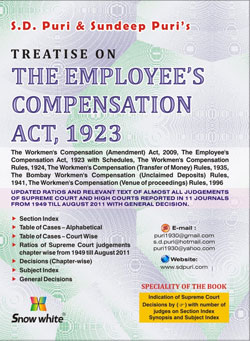 Buy TREATISE ON THE EMPLOYEES COMPENSATION ACT, 1923