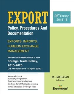Buy EXPORT POLICY, PROCEDURES AND DOCUMENTATION