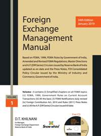 Foreign Exchange Management Manual (Volume-I) & Fema Ready Reckoner (Volume-II)