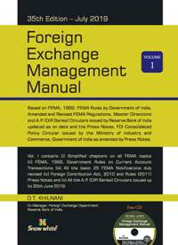 Buy Foreign Exchange Management Manual (Volume-I) & Fema Ready Reckoner (Volume-II)