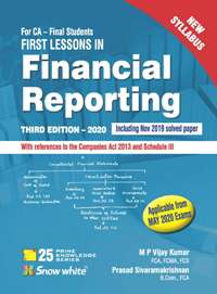 FIRST LESSONS IN FINANCIAL REPORTING ( NEW SYLLABUS)