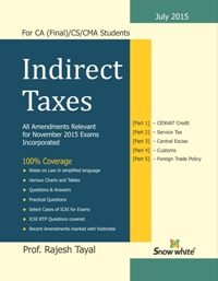 INDIRECT TAXES - RAJESH TAYAL