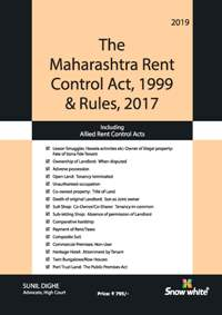THE MAHARASHTRA RENT CONTROL ACT, 1999 & RULES, 2017