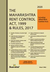 Buy THE MAHARASHTRA RENT CONTROL ACT, 1999 & RULES, 2017