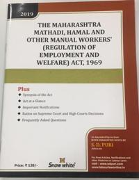 THE MAHARASHTRA MATHADI, HAMAL AND OTHER MANUAL WORKERS (REGULATION OF EMPLOYMENT AND WELFARE) ACT, 1969