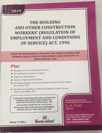 THE BUILDING AND OTHER CONSTRUCTION WORKERS (REGULATION OF EMPLOYMENT AND CONDITIONS OF SERVICE) ACT, 1996