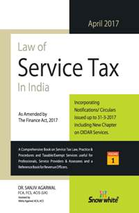 Law of SERVICE TAX in India