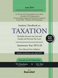 Buy Students Handbook on TAXATION