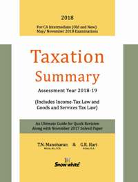 TAXATION SUMMARY ( A. Y. 2018-19)
