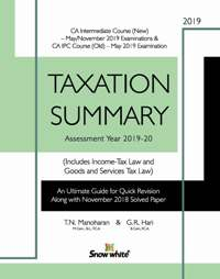 Buy TAXATION SUMMARY ( A. Y. 2019-20)