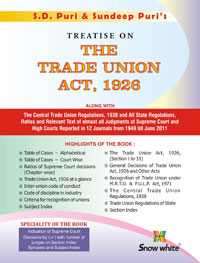 Buy TREATISE ON THE TRADE UNION ACT, 1926
