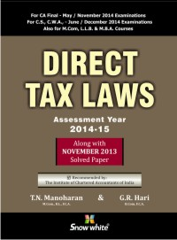 DIRECT TAX LAWS (ASSESSMENT YEAR 2014-15)