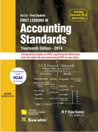 FIRST LESSONS IN Accounting Standards CA FINAL