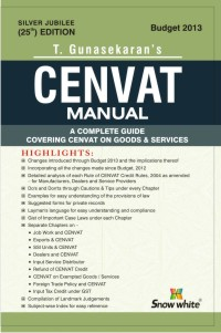 CENVAT MANUAL