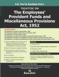 Treatise On THE EMPLOYEES PROVIDENT FUNDS AND MISCELLANEOUS PROVISIONS ACT, 1952
