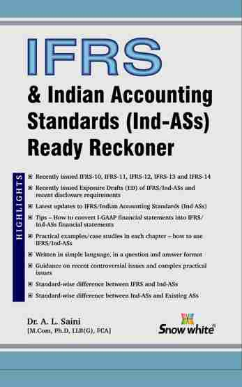 IFRS & INDIAN ACCOUNTING STANDARDS (IND-ASs) READY RECKONER