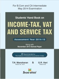 Students Handbook on INCOME-TAX, VAT & SERVICE TAX