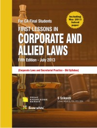 First Lessons in CORPORATE AND ALLIED LAWS