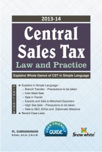 CENTRAL SALES TAX (Law and Practice)