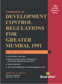COMMENTARY ON DEVELOPMENT CONTROL REGULATIONS FOR GREATER MUMBAI, 1991