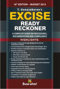 EXCISE READY RECKONER